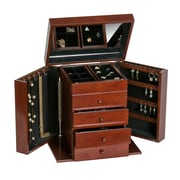 Mele & Co. Shelburne Upright Wooden Jewelry Box in Walnut Finish