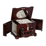 Mele & Co. Rita Wooden Jewelry Box in Mahogany Finish