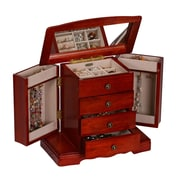 Mele & Co. Harmony Wooden Jewelry Box in Cherry Finish