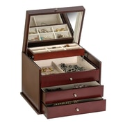 Mele & Co. Newbury Wooden Jewelry Box in Mahogany Finish