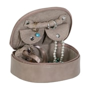 Mele & Co. Rowley Faux Leather Travel Jewelry Case in Sand