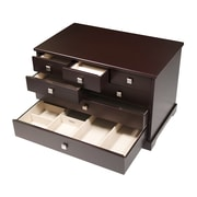 Mele & Co. Grafton Wooden Jewelry Box in Mocha Finish