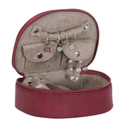 Mele & Co. Rowley Faux Leather Travel Jewelry Case in Dark Cherry