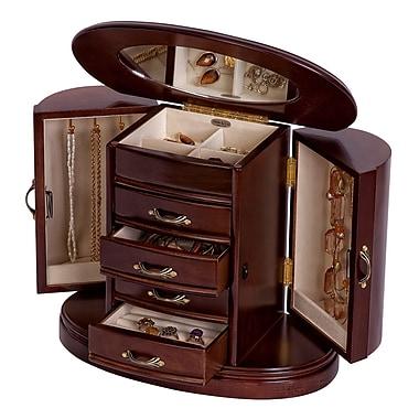 Mele & Co. Heloise Wooden Jewelry Box in Walnut Finish