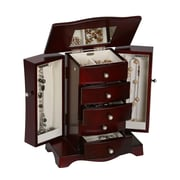 Mele & Co. Bette Wooden Jewelry Box in Mahogany Finish