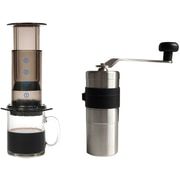 Special Coffee Accessories Pack - Aerobie Aeropress Coffee Maker & Porlex Mini Stainless Coffee Grinder, 2/Pack (KRATZ-001)