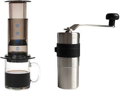 Special Coffee Accessories Pack - Aerobie Aeropress Coffee Maker & Porlex Mini Stainless Coffee Grinder, 2/Pack (KRATZ-001)