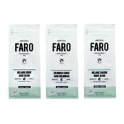 Faro Dark Blend, Dark Colombian, House Blend Organic and Fair Filter Grind Coffee Assortment Gift Pack, 3/Pack