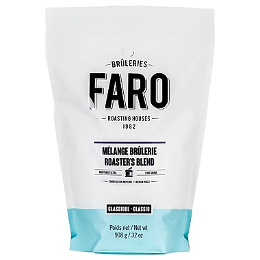 Faro Roasters Blend Fine Grind Coffee, 100% Arabica Beans With Dark Chocolate Flavor, 2 lb.