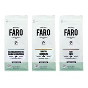 Faro Guatemala San Rafael, Sumatra Mandheling, Forte Espresso Blend Organic and Fair Whole Coffee Beans, 3/Pack