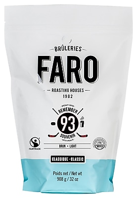 "Faro Classic ""Remember 93"" Gourmet Coffee Beans, Fair Trade Certified Organic Small Batch Whole Bean Coffee Beans, 2 lbs. 24117421"