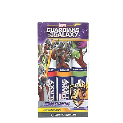 Guardians of the Galaxy Jumbo Smarker 3-Packs - 2 Sets of Scented Felt Tip Markers