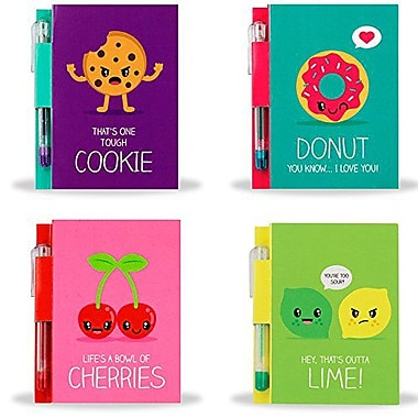 Sketch & Sniff Note Pad Bundle - Lemon Lime, Cherry, Cookie, & Donut Scents