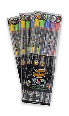 Sports Smencils - 3 Sets of 5-Pack Scented Pencils