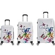 InUSA EXCLUSIVE Plastic 3-Piece Luggage Set, Fusion (IUAPCSML-FUS)