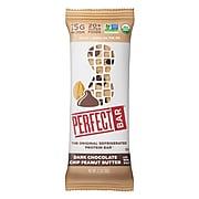 PERFECT BAR Protein Bar Dark Chocolate Peanut Butter, 2.3 oz, 16/Pack (307-00247)