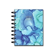 "2021-2022 The Happy Planner 7"" x 9.25 Weekly & Monthly Planner, Kaleidoscope, Blue (PPCD18-022)"