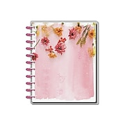 """2021-2022 The Happy Planner Academic 10.13"""" x 11.5"""" Weekly & Monthly Planner, Pressed Florals, Orange/Red/Pink (PPBD18-004)"""