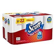 Scott Choose-A-Sheet Kitchen Roll Paper Towels, 1-ply, 102 Sheets/Roll, 12 Mega Rolls/Pack (38869)