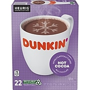 Dunkin' Donuts Milk Chocolate Hot Cocoa, Keurig® K-Cup® Pods, 22/Box (611227377215)