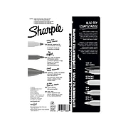 Sharpie Variety Pack Permanent Markers, Assorted Tips, Black Ink, 6/Pack (2135318)