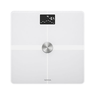 Nokia Body+ WBS05 Body Composition Wi-Fi Smart Scale, Black, 396 lbs.