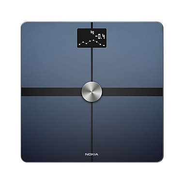Nokia Body+ WBS05 Body Composition Wi-Fi Smart Scale, White, 396 lbs.