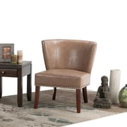 Simpli Home Jamestown Accent Chair in Dark Taupe (AXCCHR-009-DT)