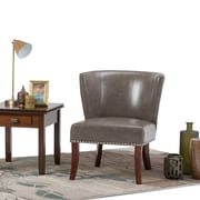 Simpli Home Jamestown Accent Chair in Elephant Grey (AXCCHR-009-EG)