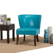 Simpli Home Jamestown Accent Chair in Mediterranean Blue (AXCCHR-009-MBU)