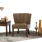 Simpli Home Jamestown Accent Chair in Saddle Brown (AXCCHR-009-SBR)