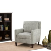 Simpli Home Jakob Club Chair in Pale Green Pattern (AXCCHR-010)
