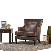 Simpli Home Galway Club Chair in Distressed Brown (AXCCHR-012)