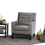 Simpli Home Carrigan Club Chair in Taupe (AXCCHR-013-TP)