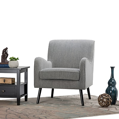 Simpli Home Dysart Mid Century Arm Chair in Grey Tweed (AXCCHR-014)