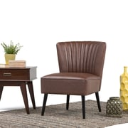 Simpli Home Hollyford Club Chair in Distressed Brown (AXCCHR-017)
