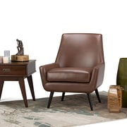 Simpli Home Warhol Mid Century Accent Chair in Saddle Brown (AXCCHR-018-SBR)