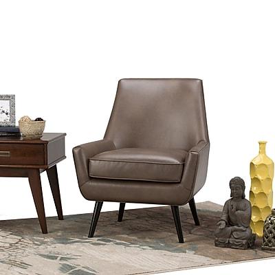 Simpli Home Warhol Mid Century Accent Chair in Warm Grey (AXCCHR-018-WG)