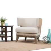 Simpli Home Hoffman Accent Chair in Natural (AXCCHR-20-NL)
