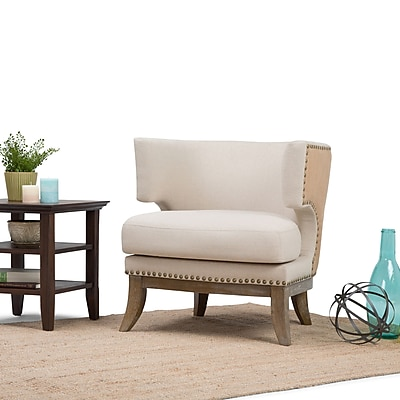 Simpli Home Hoffman Accent Chair in Natural (AXCCHR-20-NL)