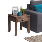 Simpli Home Cosmopolitan End Side Table in Farmhouse Brown (AXCCOS-END-FB)