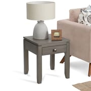 Simpli Home Cosmopolitan End Side Table in Farmhouse Grey (INT-AXCCOS-END-FG)