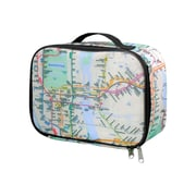 Lunch Bag with NYC Subway Map, black trim, insulated