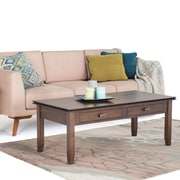 Simpli Home Artisan Coffee Table in Natural Aged Brown (AXCHOL001-NAB)