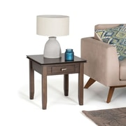 Simpli Home Artisan End Side Table in Natural Aged Brown (AXCHOL002-NAB)