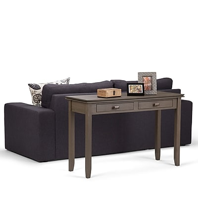 Simpli Home Artisan Console Sofa Table in Farmhouse Grey (AXCHOL003-FG)