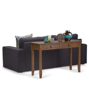 Simpli Home Artisan Console Sofa Table in Medium Saddle Brown (AXCHOL003-SB)