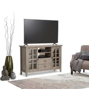 Simpli Home Artisan Tall TV Media Stand in Distressed Grey (AXCHOL005-GR)