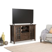 Simpli Home Artisan Tall TV Media Stand in Natural Aged Brown (AXCHOL005-NAB)