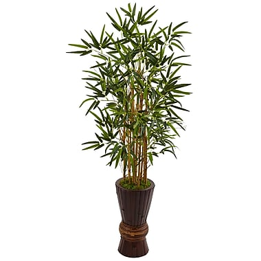 Nearly Natural 4.5' Bamboo Tree in Bamboo Planter (5801)